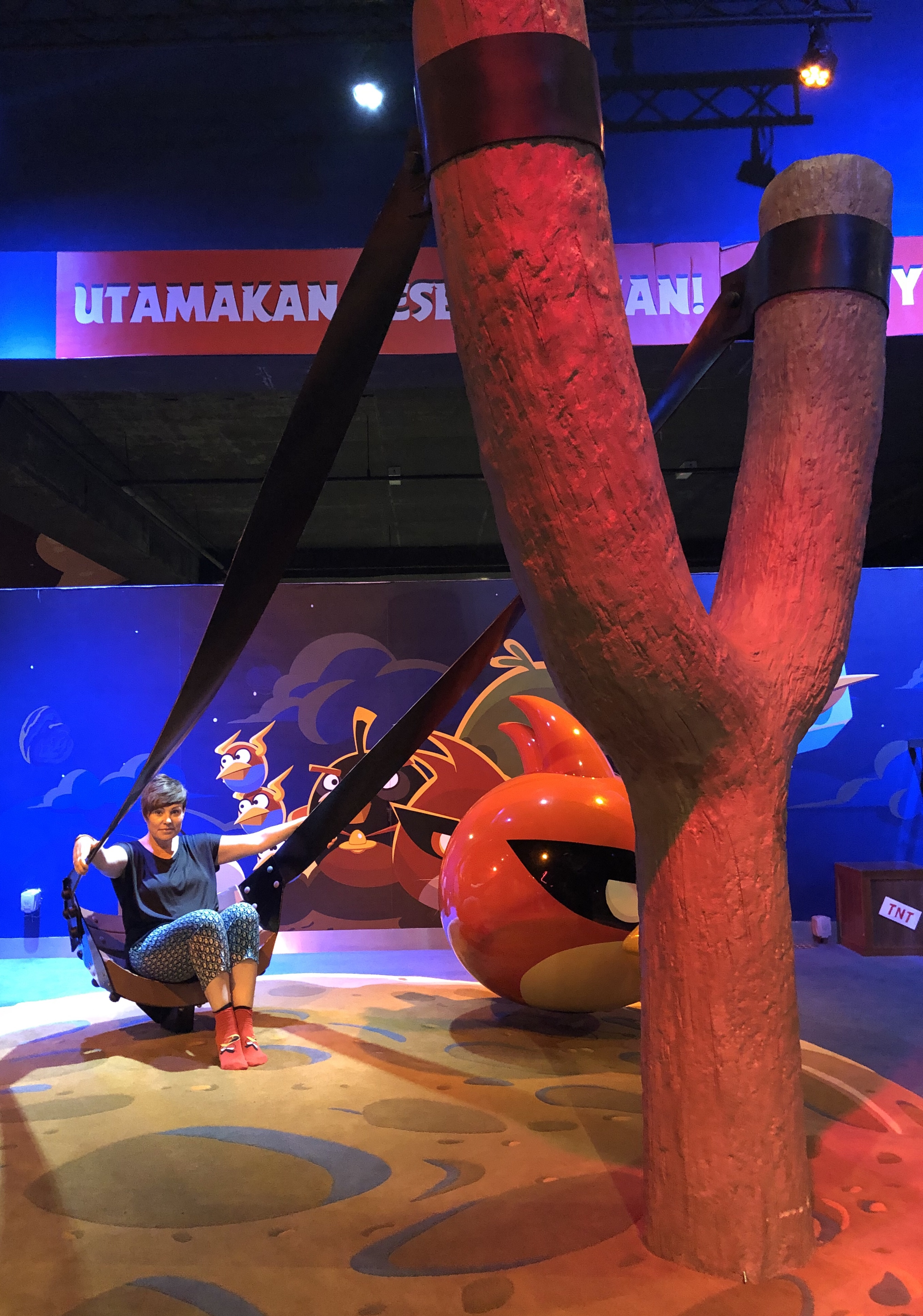 On the slingshot at Angry Birds Land Johor